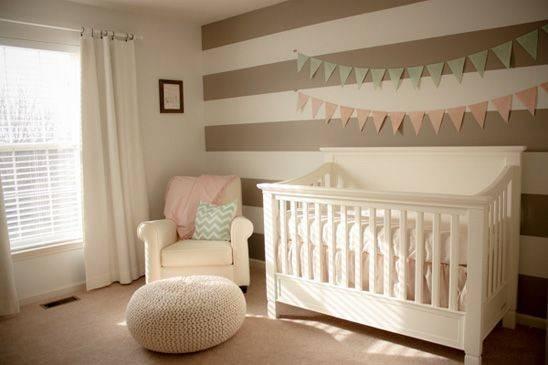 Cream Nursery Accents Light Pink Mint Contemporary