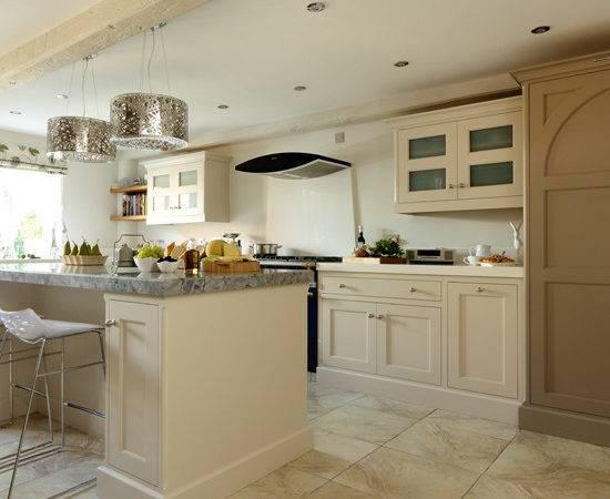 Cream Shaker Kitchen Modern Pendants Decorating Ideal