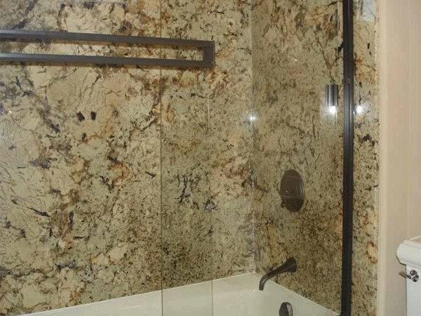 Create Bathroom Shower Using Granite Slabs Tulsa Oklahoma City