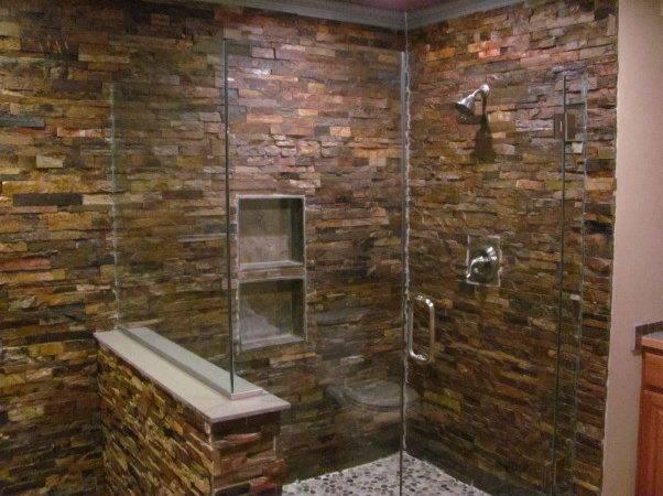 Create Faux Stone Shower Direct