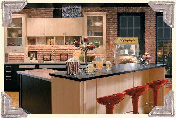 Create Look Studio Loft Kitchenette Entertainment Area
