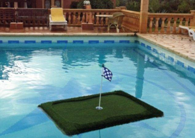 Create Your Own Golf Green Floating Holes Pool