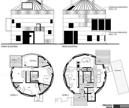 Creating Cylindrical Prefab Homes Renovated Grain Silos House