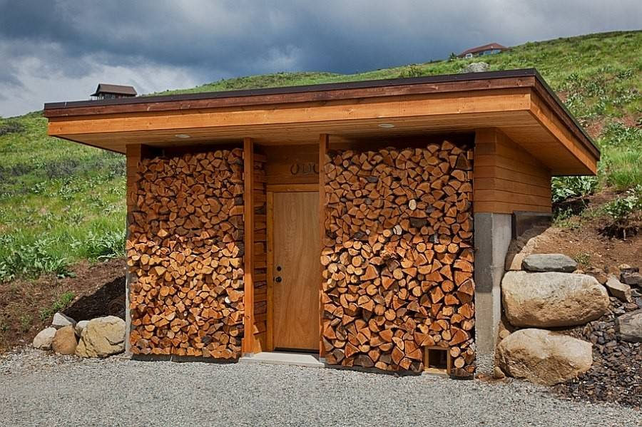 Creative Freestanding Woodshed Can Become Unique Addition Your