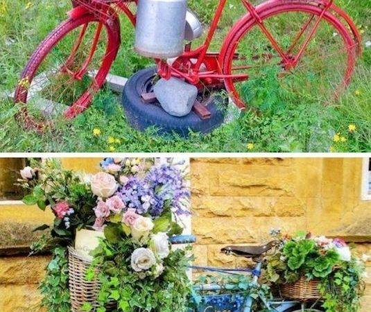 Creative Garden Container Ideas Bicycle Planters