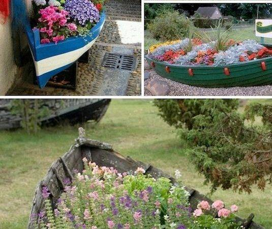 Creative Garden Container Ideas Old Boats Planters