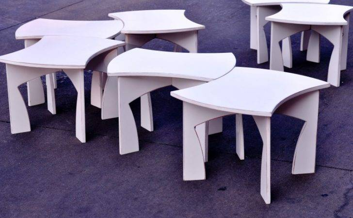 Creative Modular White Table Can Packed Flat Digsdigs
