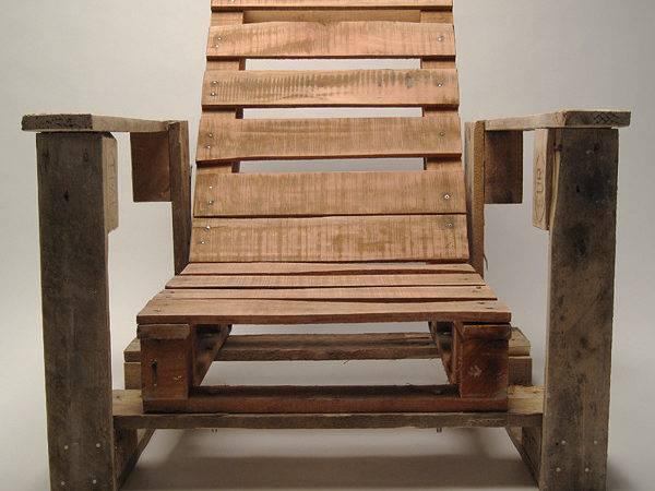 Creative Recycle Garden Chair Wood Design
