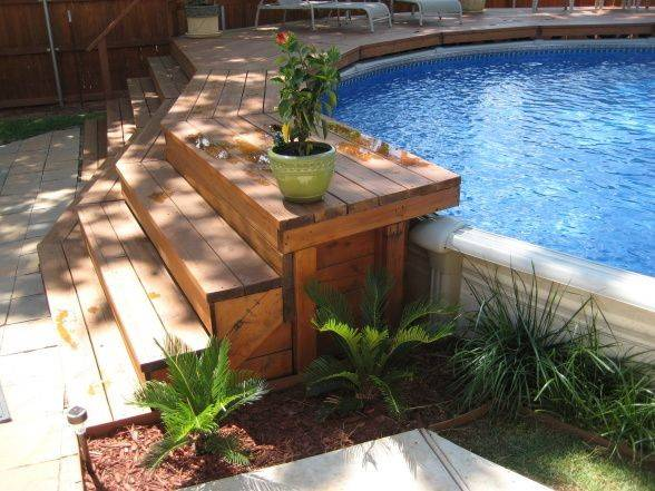 Creative Way Install Above Ground Pool Our Yard Small