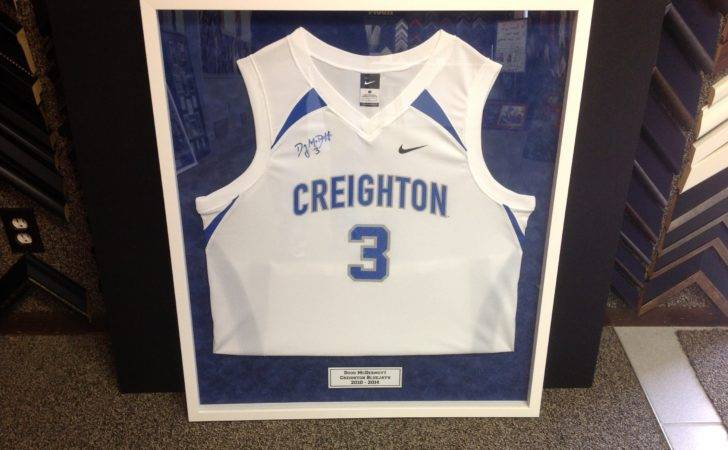 Creighton Basketball Jersey Signed Doug Mcdermott Framed Blue