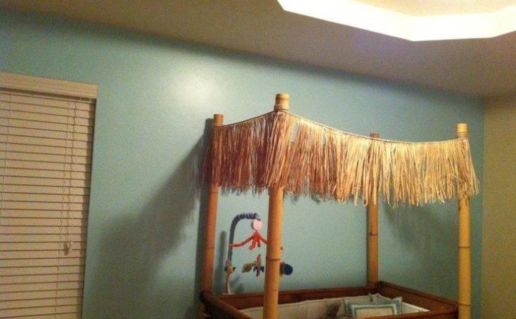 Crib Tiki Beach Hut Nursery Hawaiian Princess Pinterest