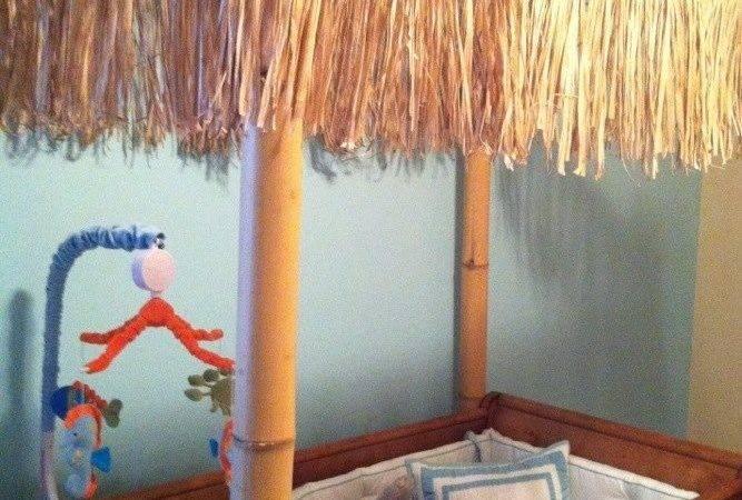 Crib Tiki Hut Made Jett Room Bamboo Tied Ends Grass