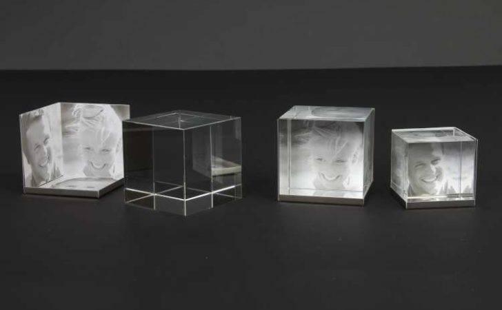 Crystal Glass Cube Frames