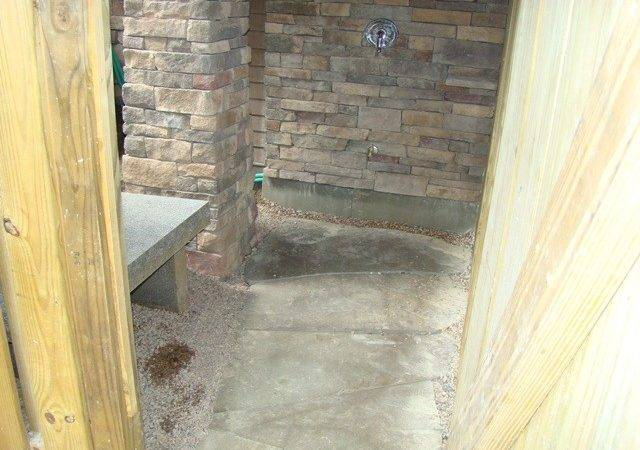 Cultured Stone Shower Walls Outdoor