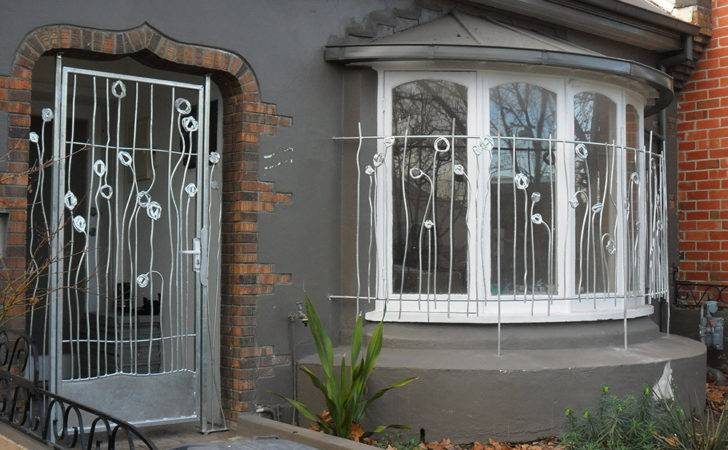 Curved Window Grill Tall Abstract Poppy Design North Melbourne