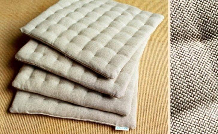 Cushion Seat Burlap Fabric Japanese Style Squishy Pillow