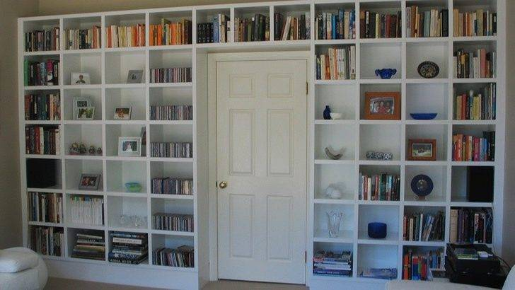 Custom Bookcase Built Around Door Building Nanny Flat