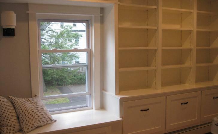 Custom Bookcase Window Seat Built Casper Company