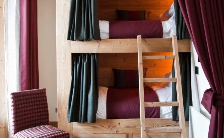 Custom Bunk Beds Kids Traditional Beige Wall Built