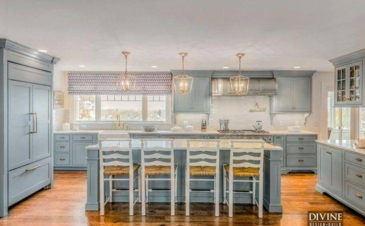 Custom Cabinetry Set Design Scheme Space Blue Gray