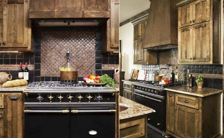 Custom Copper Backsplash Classic Kitchen Design Linda