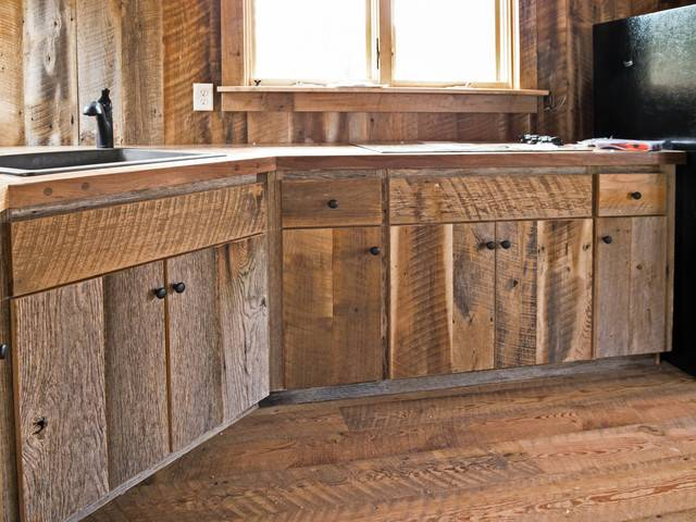 Custom Crafted Barn Wood Cabinets Traditional Kitchen Other
