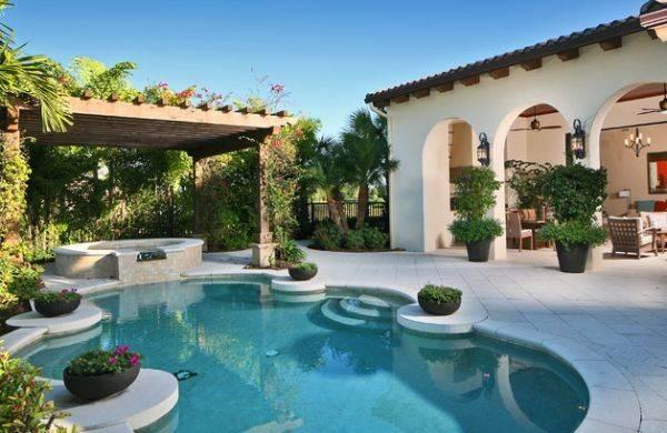 Custom Designed Pool Spa Backyard