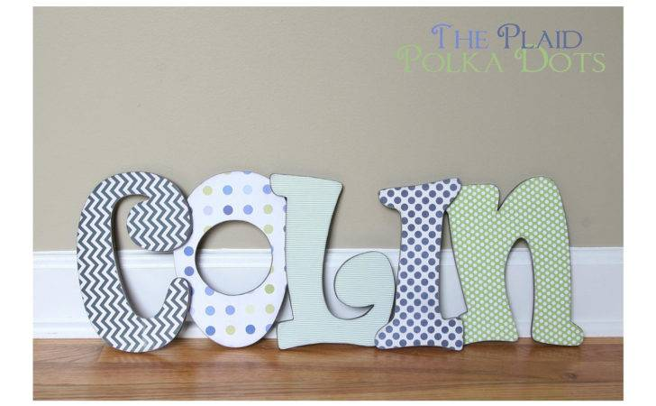 Custom Distressed Wooden Letters Girls Boys Blues