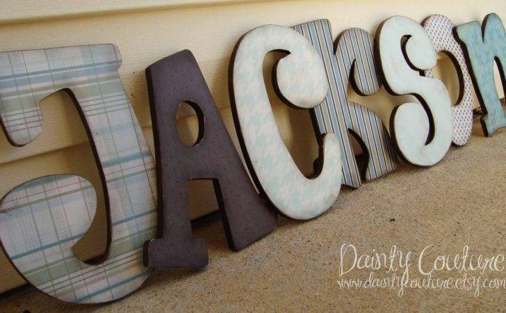 Custom Distressed Wooden Letters Girls Daintycouture