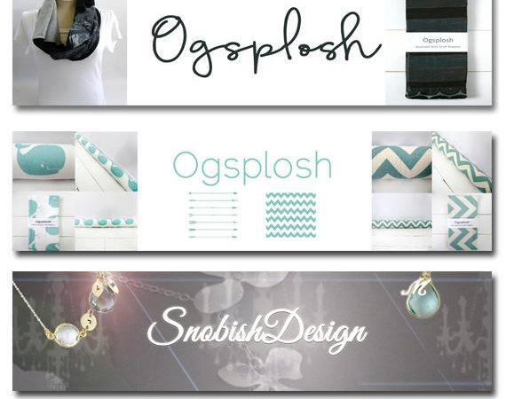 Custom Etsy Shop Banner Avatar Package Set Ooak Facebook