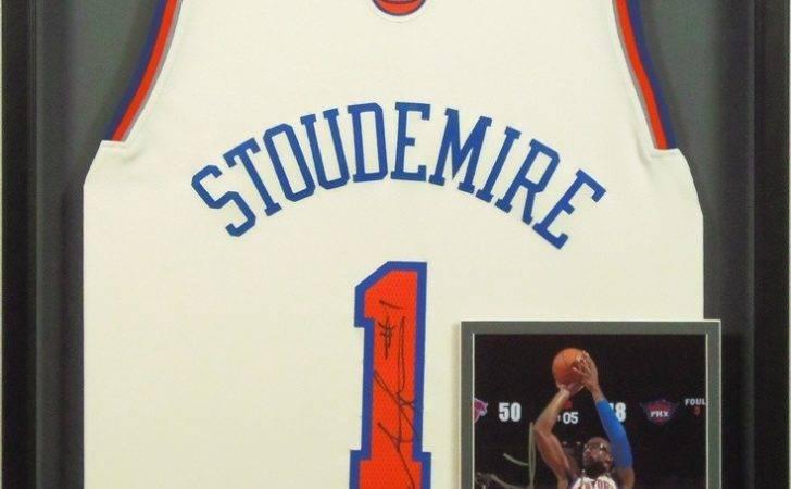 Custom Framed Signed Basketball Stoudemire Jersey Photograph