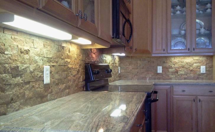 Custom Kitchen Backsplash Countertop Flooring Tile Installation