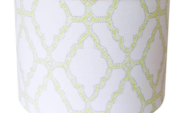 Custom Lamp Shade Geometric Shades Spring Green