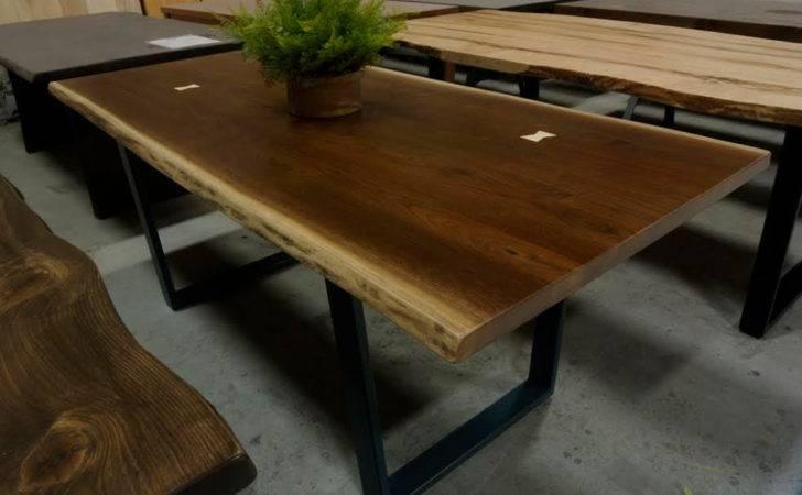 Custom Live Edge Wood Dining Table Steel Lorimerworkshop