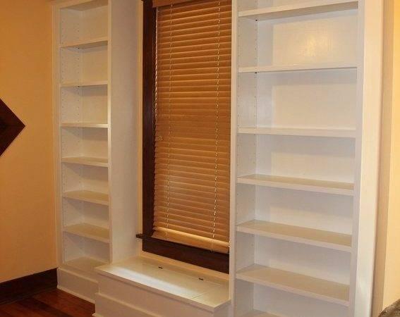 Custom Made Bookcase Window Seat Cristofir Bradley Cabinetry