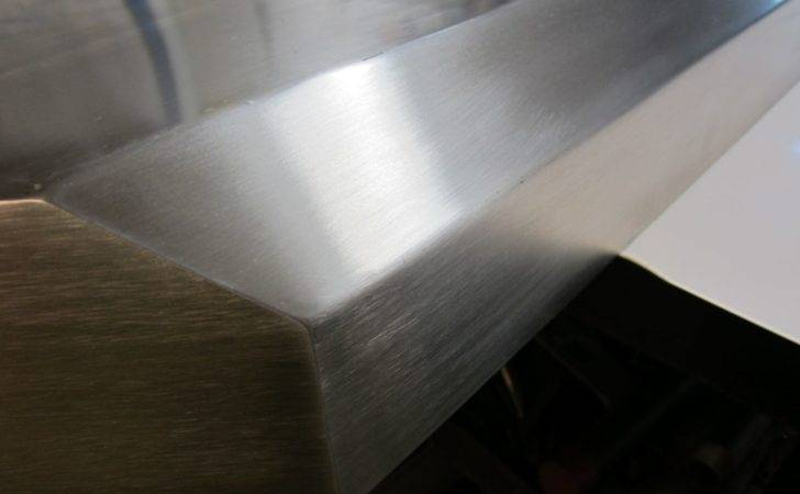 Custom Made Brushed Stainless Steel Fireplace Mantels Shelving