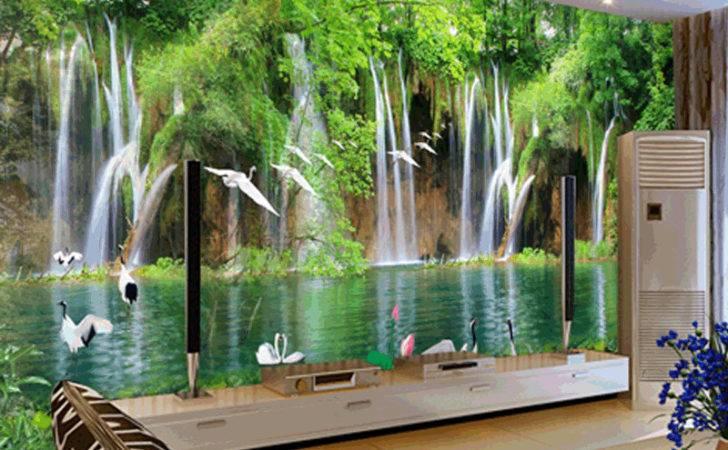 Custom Mural Bedroom Wall Natural Small Waterfall