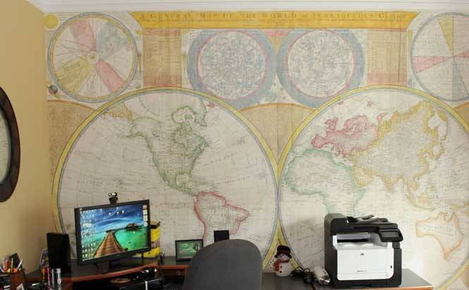 Custom Our Totally World Map Murals Bring