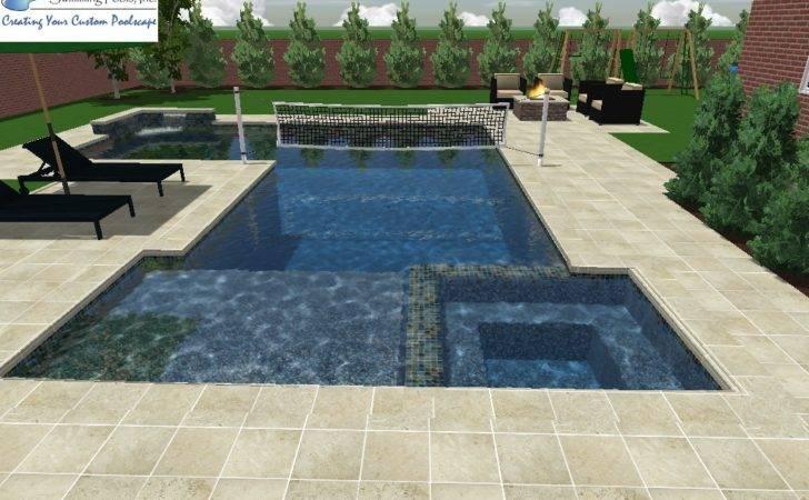 Custom Pool Designs Pinterest Volleyball Pools