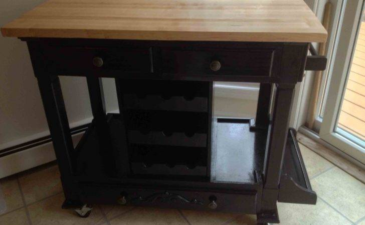 Custom Portable Kitchen Workstation All Solid Wood