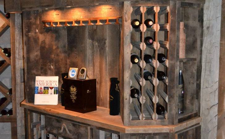 Custom Reclaimed Wine Cellar Cabinets Rustic Furniture
