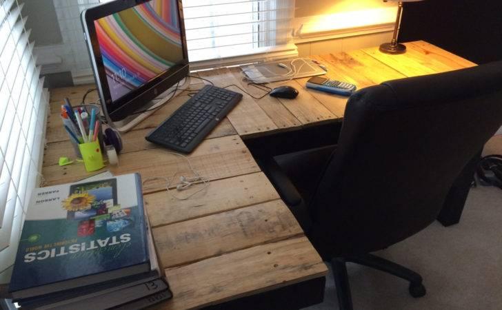 Custom Reclaimed Wood Shaped Desk Ovwood Etsy