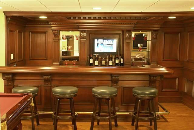 Custom Residential Bar Traditional Home Theater Newark