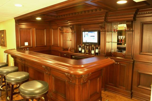 Custom Residential Bar Traditional Media Room