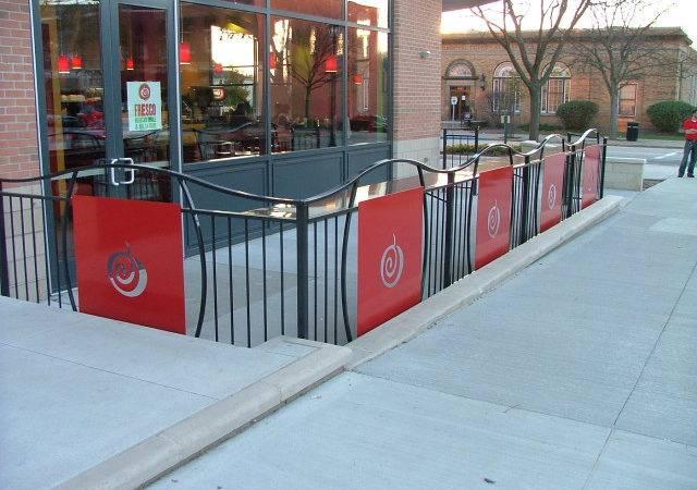 Custom Restaurant Patio Fence Finelli Ironworks