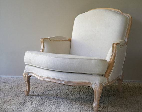Custom Upholstery Comfy Bergere Style Chair