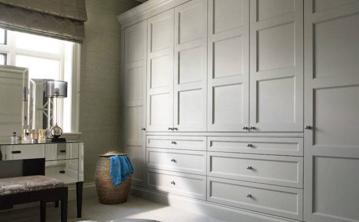 Custom Walk Closet Light Gray Shaker Closets Over Built
