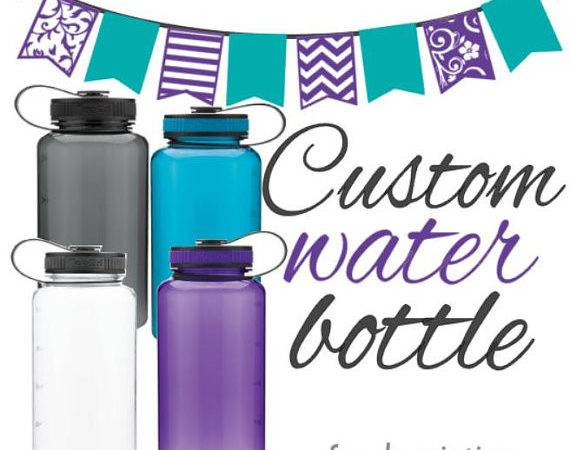 Custom Water Bottle Many Colors