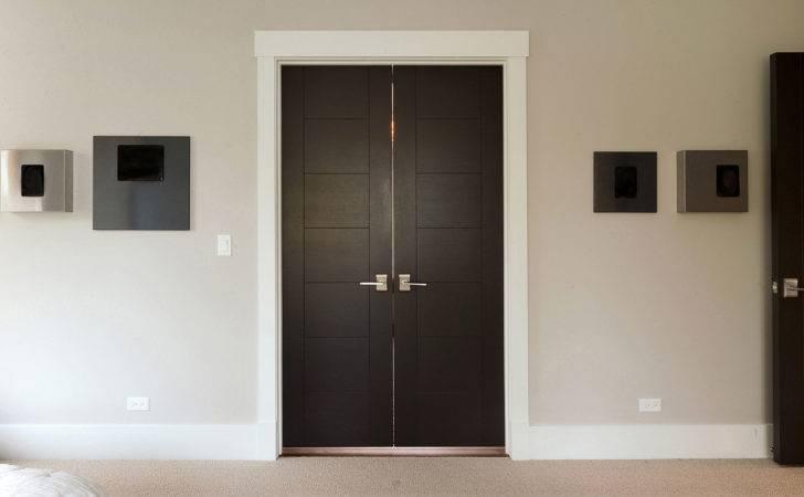 Custom Wood Interior Doors Modern Double Door