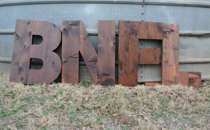 Custom Wood Letters Home Decor Tall Stained